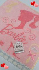 ★新品★バービー★Barbie  タオルハンカチ★ピンク/シルエット★限定一点!