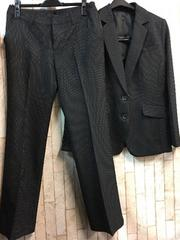 新品☆11号ロング丈ジャケット洗えるパンツスーツ黒st♪g846