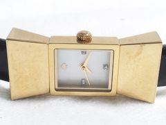 6045/katespadeケイトスペード定価10万円位ダイヤ&シェルレディース腕時計