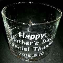 母の日 誕生日 感謝グラス