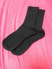 靴下 ネイビーに近い黒