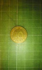 旧西ドイツ10ペニヒ硬貨(1990年)♪