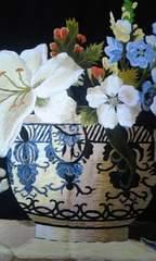 ☆花☆世界で1枚のベトナムシルク手刺