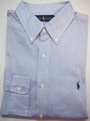 ラルフローレン 長袖ボタンダウン ドレスシャツ 16.5(42)ブルー