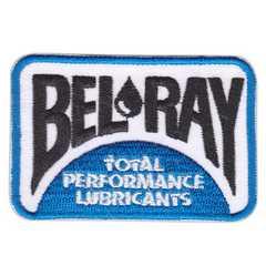 ベルレイ(BEL-RAY)★ワッペン★白青#bry001