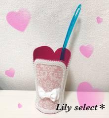 new://pinkダマスク×シャンデリア柄ハンディワイパースタンド51