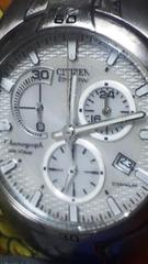 シチズンオルタナエコドライブ光発電ソーラー充電システムTITANIUM腕時計