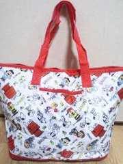 スヌーピー折り畳み保冷バッグ(コンパクトで持ち運びに便利)