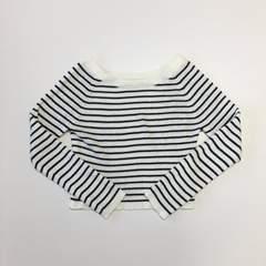 リナオク Blasty ブラスティー ボーダーリブニット 黒×白 M