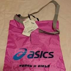 アシックス ピンク色グラフィックトートバッグ新品未使用