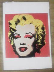 マリリン・モンローのポストカード(アンディ.ウォーホール)/ 新品/超美品