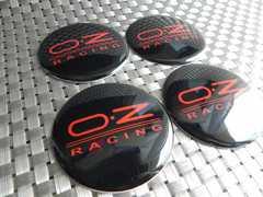 OZレーシング ホイールセンターキャップシール黒赤65�o 4枚価格