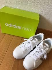 adidas neo☆アディダス、25cm、ホワイト