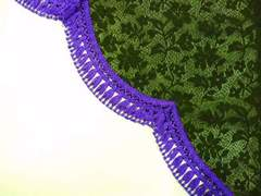 レースサイドカーテン S 黒/紫 軽四/乗用車 日よけ 西日 日焼け