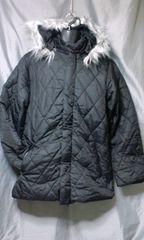 中綿 ダイヤキルト キルティングジャケット コート L 未使用品 ブラック 。