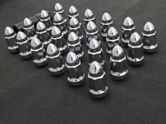 バレット型ホイールナット トヨタ6穴用24個ショート ハイエース200 プラド120/150