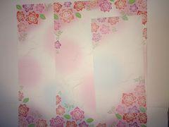 薔薇 バラレターセット ピンク ブルー バラ香る