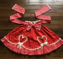 BODY LINE 赤白ドット柄スカート カジュアルロリータ未使用品