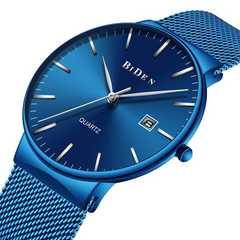 メンズ腕時計  防水ミラノ時計 青