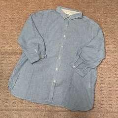 SM2*7分袖ストライプ柄シャツ