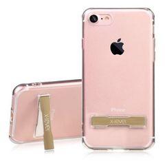新品 iPhone7 カバーケース スタンド付 ゴールド 衝撃吸収