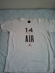訳あり激安86%オフ限定、シュプリーム、ジョーダンTシャツ(美品、灰、L、日本製)