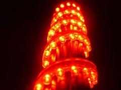 超発光/防水 LEDチューブ 48�p レッド/赤