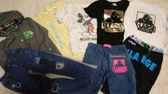 エクストララージキッズ☆パーカーTシャツパンツ8点セット☆6Tレアコラボ