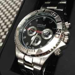 人気色★coolな黒文字盤★Black Oceansメンズ腕時計