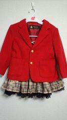 110�p赤いコート★冬