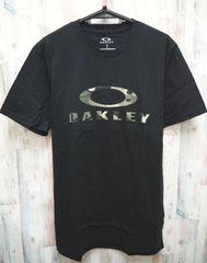 OAKLEY オークリー 迷彩ロゴ 半袖Tシャツ M 黒
