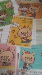 Lucky Piggy バラレターセット5種B12