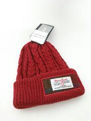 大人の女性にも! 新品 ハリスツイード ケーブル編み ニット帽 kids しまむら
