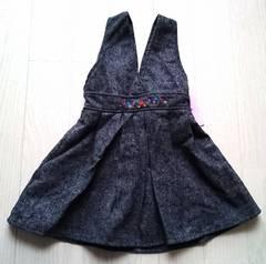 110★Snip snap★女の子★上品ツィードジャンパースカート★新品