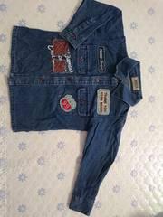 ミキハウス マッカジーンズのデニムシャツ 90 新品同様
