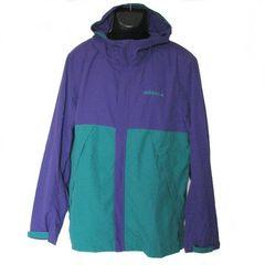 新品●adidas紫×緑カラーブロックタッサージャケット(XO)