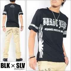 メール便送料無料【MAD BURST JAPAN】70741Tシャツ黒銀L