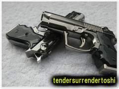 リアル 拳銃型ターボライター ライト付き ピストル