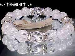 天然石★10ミリSラインツイスト水晶クラック水晶数珠