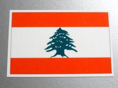 1■レバノン国旗ステッカー1枚 シール ☆即買!■