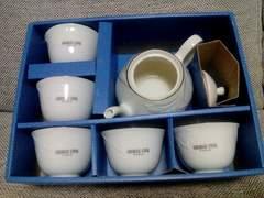 GEORGE CINQ PARIS 湯呑み5客 ポット付茶器セット