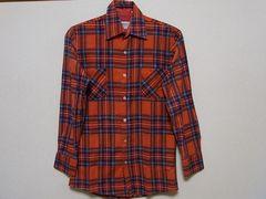 即決USA古着●鮮やかチェックデザインネルシャツ!アメカジ・ヴィンテージ