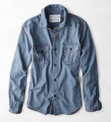【American Eagle】Vintage AEOデニムワークウェアシャツ L/インディゴ