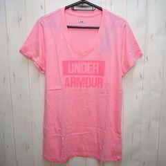 アンダーアーマー FAVORITE Vネック半袖Tシャツ XL ピンク