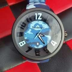 1★希少◆鑑済◆テンデンス/美品腕時計ブルーアーミー★ラバー