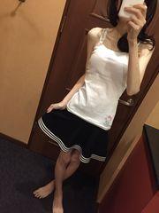 ミニフレアスカート・紺