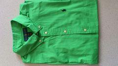 激安76%オフPolo、ラルフローレン、半袖シャツ(新品タグ、緑、メンズM位)