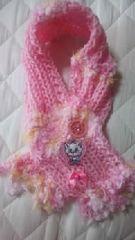 【\500送込処分セール】B34新品〓手編みミニマフラー