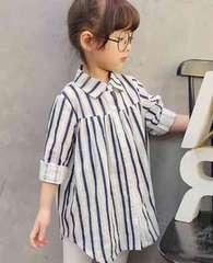 送料込み・ストライプチュニック・韓国子供服