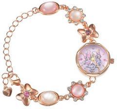 デイジー&ミニーの宝石腕時計ブレスレット☆